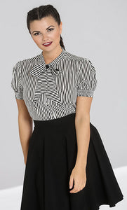Humbug Striped Blouse Top
