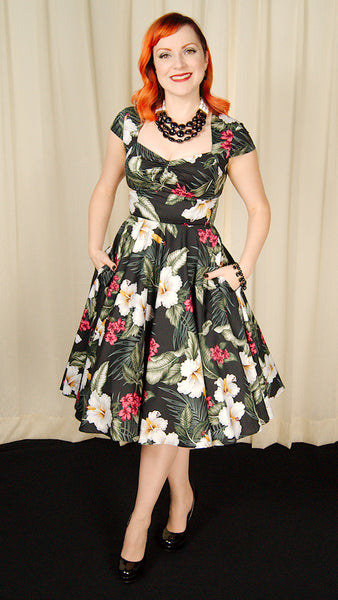 Kalei Hibiscus Dress by Hell Bunny : Cats Like Us