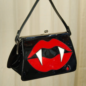 Kiss Me Deadly Handbag by Hell Bunny : Cats Like Us