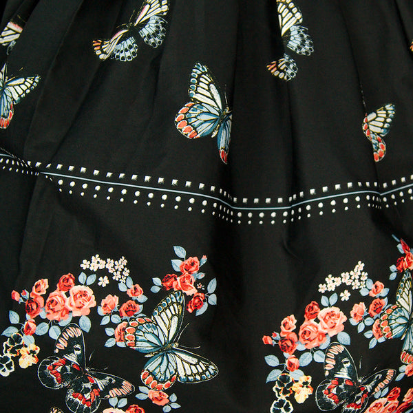 Laeticia Butterfly Border Skirt by Hell Bunny : Cats Like Us