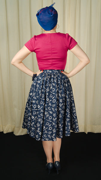 Marin Nautical Swing Skirt by Hell Bunny : Cats Like Us
