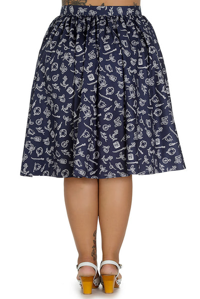 Marin Nautical Swing Skirt - Cats Like Us