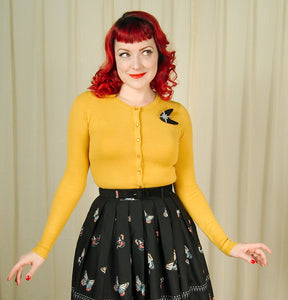 Mustard Paloma Cardigan Sweater by Hell Bunny : Cats Like Us