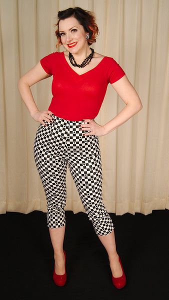 PokerFace Gingham Capri Pants