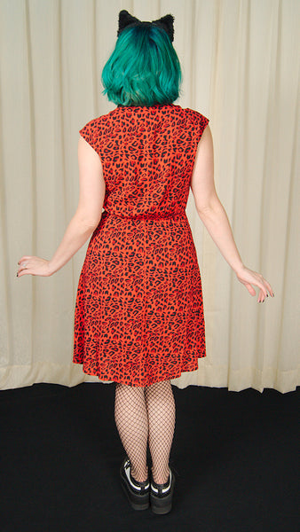 Red Leo Leopard Dress