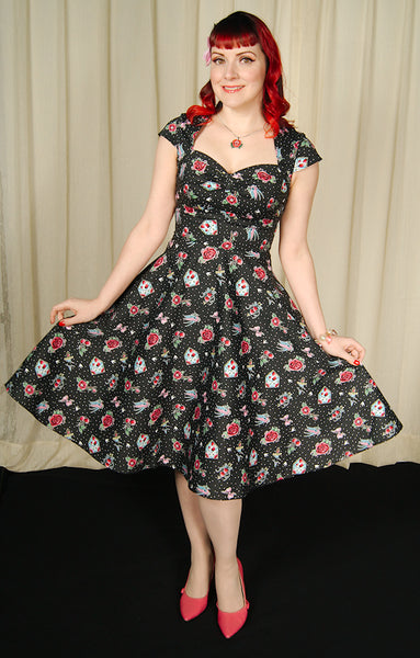 Stevie Love Tattoo Flash Dress by Hell Bunny : Cats Like Us