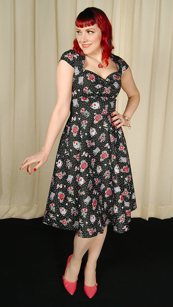8441d2963ccc ... Stevie Love Tattoo Flash Dress by Hell Bunny : Cats Like Us ...