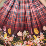 Hell Bunny Tulipa Floral Plaid Skirt for sale at Cats Like Us - 2
