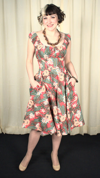 Ukuele Hawaiian Swing Dress