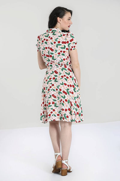 Simona Cherries Shirt Dress - Cats Like Us