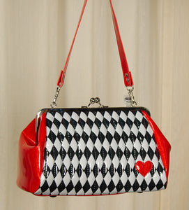 Hold Fast Handbags Harlequin Diamond Handbag for sale at Cats Like Us - 1