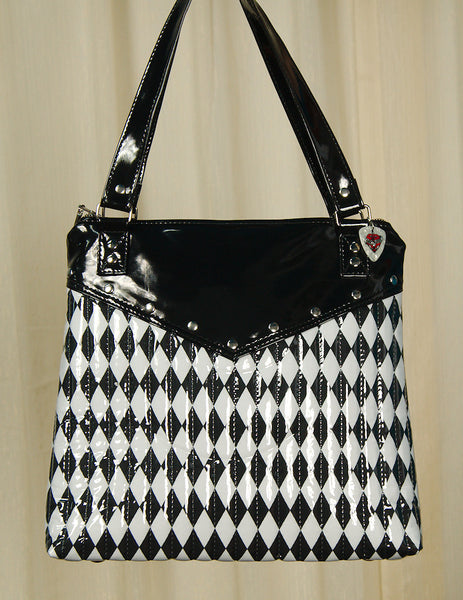 Hold Fast Handbags Harlequin Diamond Totebag for sale at Cats Like Us - 3