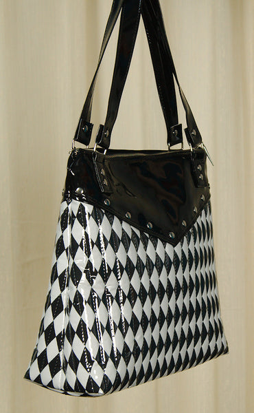 Hold Fast Handbags Harlequin Diamond Totebag for sale at Cats Like Us - 4
