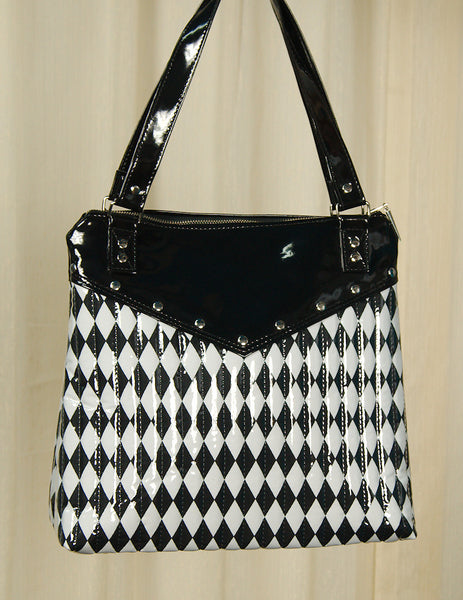 Hold Fast Handbags Harlequin Diamond Totebag for sale at Cats Like Us - 1
