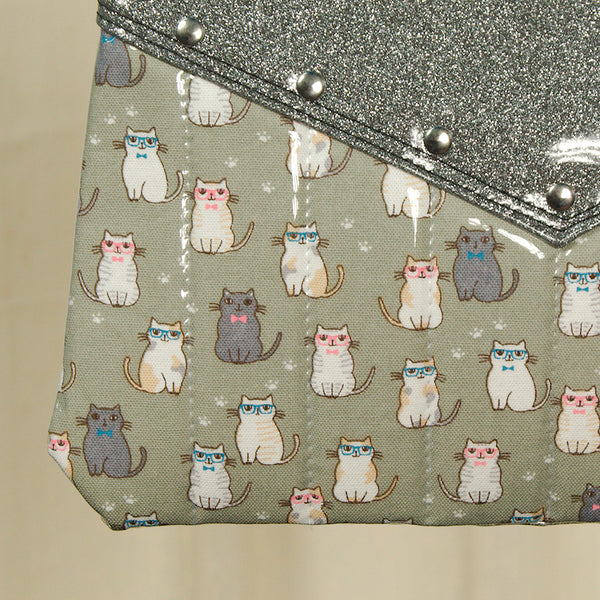 Hold Fast Handbags Smarty Pants Cats Crossbody Bag for sale at Cats Like Us - 2