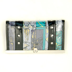 Tiki Blue Shaheen Wallet by Hold Fast Handbags : Cats Like Us