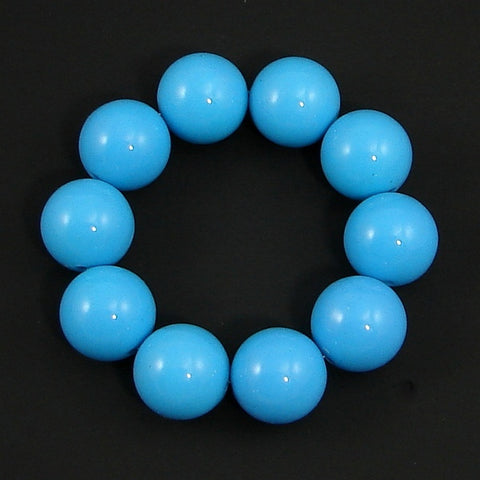 Blue Bead Bracelet by Hollywood Mirror