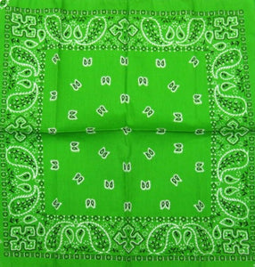 Green Traditional Bandana by Hollywood Mirror