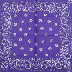 Purple Traditional Bandana - Cats Like Us