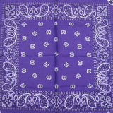 Hollywood Mirror Purple Traditional Bandana for sale at Cats Like Us - 1
