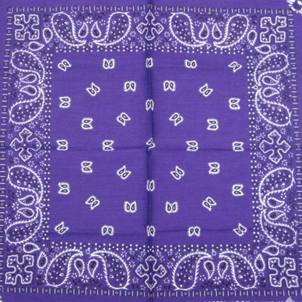 Purple Traditional Bandana