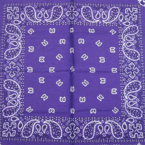 Purple Traditional Bandana by Hollywood Mirror : Cats Like Us