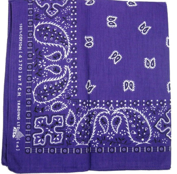 Hollywood Mirror Purple Traditional Bandana for sale at Cats Like Us - 2