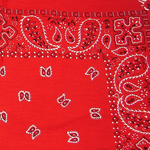 Red Traditional Bandana - Cats Like Us