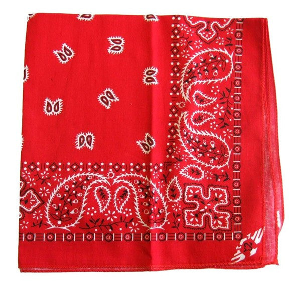Red Traditional Bandana by Hollywood Mirror