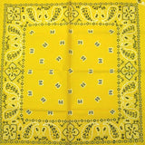 Hollywood Mirror Yellow Traditional Bandana for sale at Cats Like Us - 1