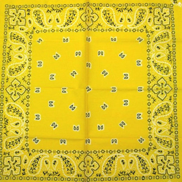 Yellow Traditional Bandana