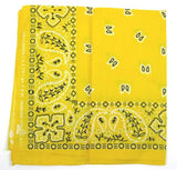 Hollywood Mirror Yellow Traditional Bandana for sale at Cats Like Us - 2