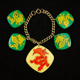 Hullabaloo All Grn Hidden Dragon Bracelet
