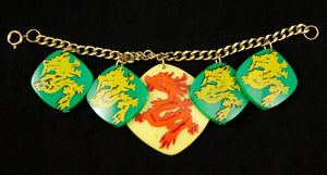 All Grn Hidden Dragon Bracelet by Hullabaloo - Cats Like Us
