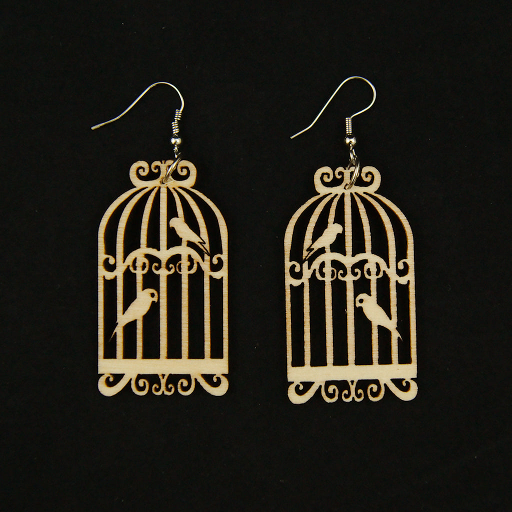 Birdie Cage Earrings by Hullabaloo - Cats Like Us