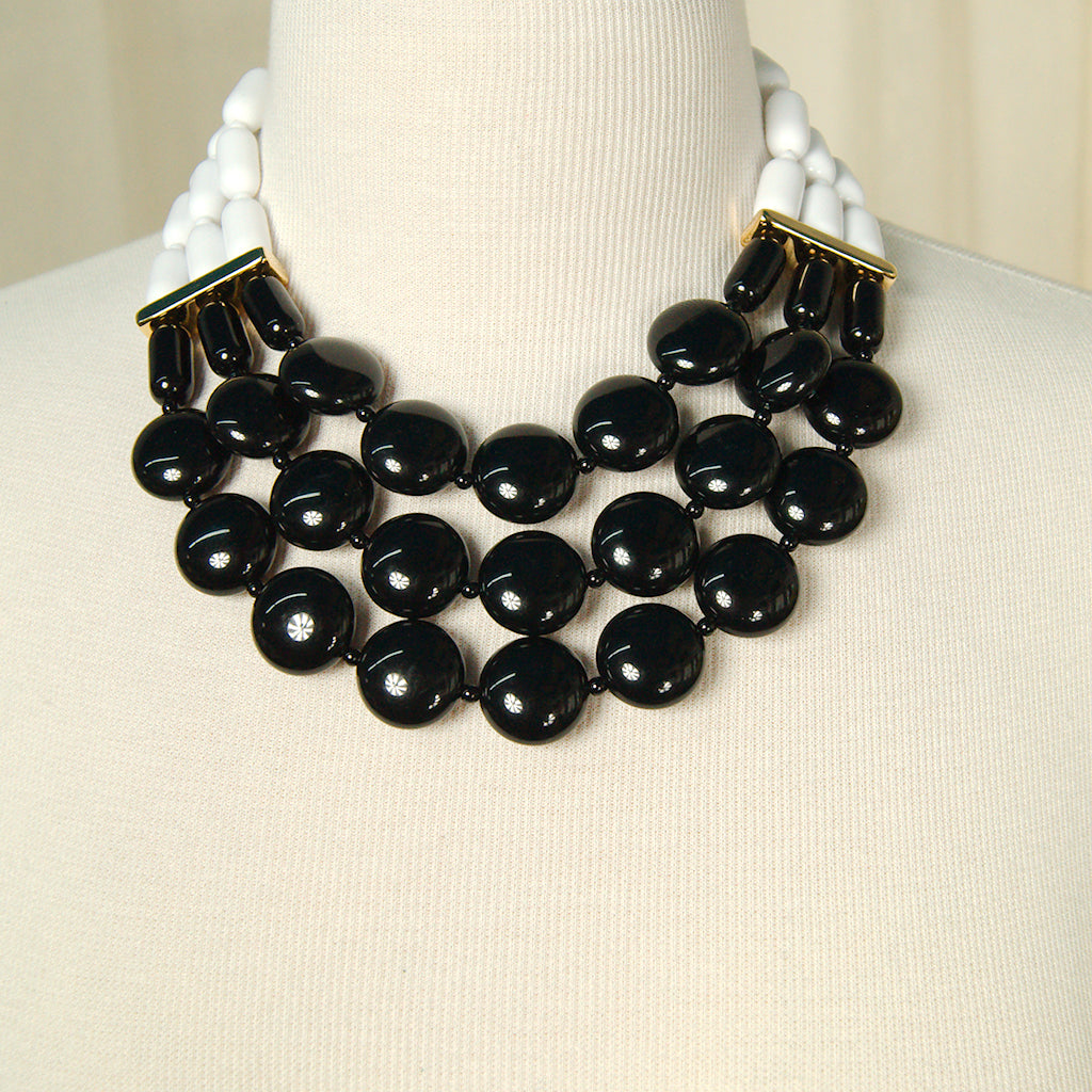 Black & White Tiered Necklace