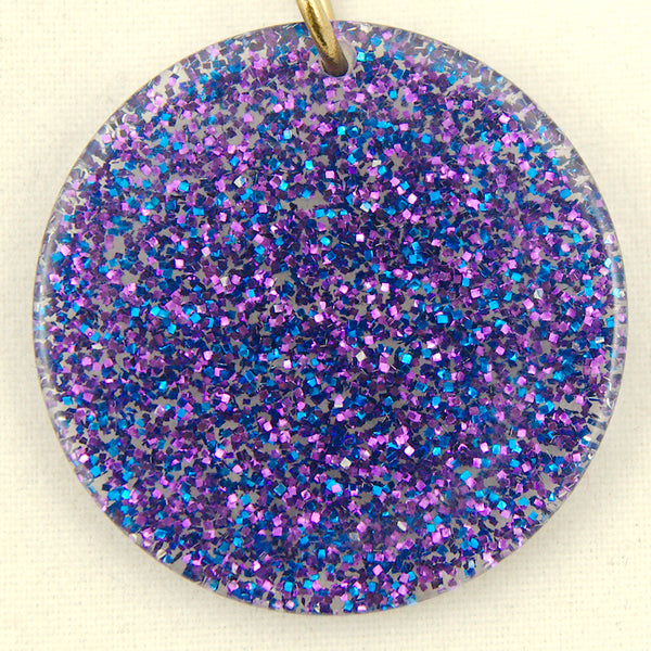 Blue & Purple Glitter Earrings by Hullabaloo : Cats Like Us