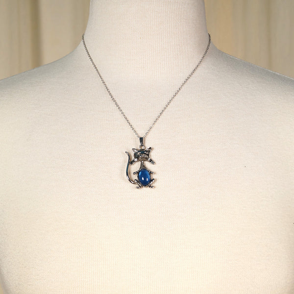 Blue Cool Cat Necklace - Cats Like Us