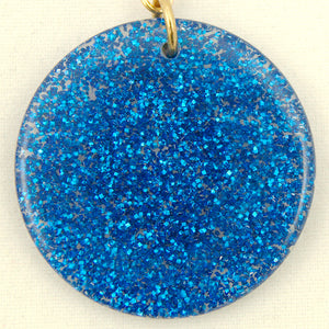 Blue Glitter Disc Earrings by Hullabaloo : Cats Like Us