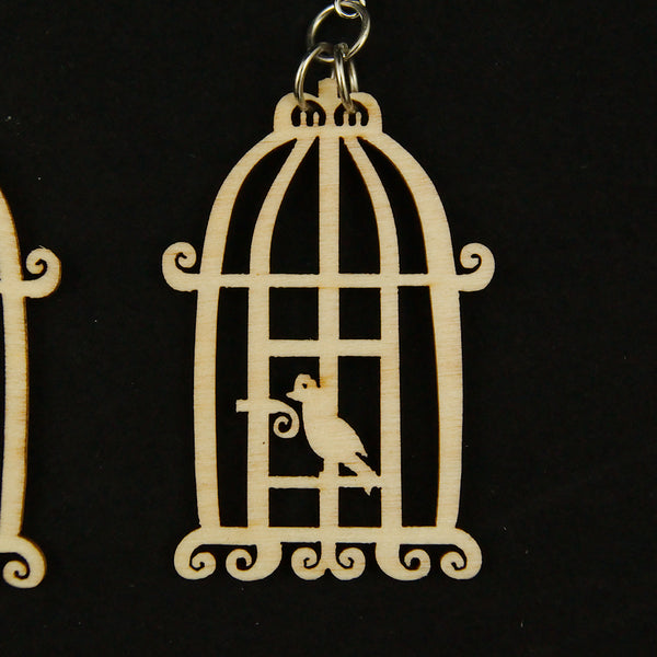 Bye Bye Birdie Cage Earrings by Hullabaloo : Cats Like Us