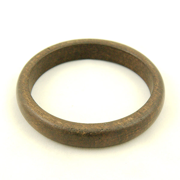 Dark Brown Wood Bangle by Hullabaloo : Cats Like Us