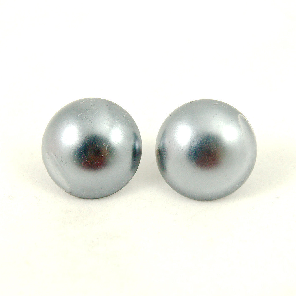 Gray Misty Pearl Earrings by Hullabaloo : Cats Like Us