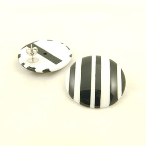 Large Stripe Celebrate Earrings by Hullabaloo : Cats Like Us