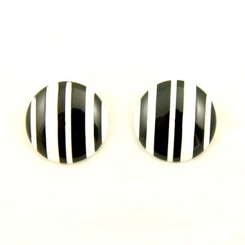 Large Stripe Celebrate Earrings