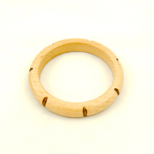 Light Wood Bangle by Hullabaloo : Cats Like Us