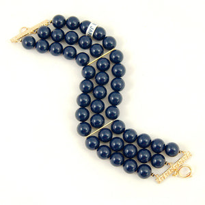 Navy Triple Jet Set Bracelet by Hullabaloo : Cats Like Us