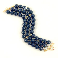 Navy Triple Jet Set Bracelet