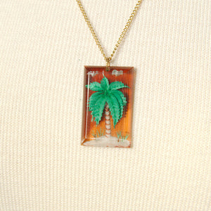 Palm Tree Necklace by Hullabaloo : Cats Like Us