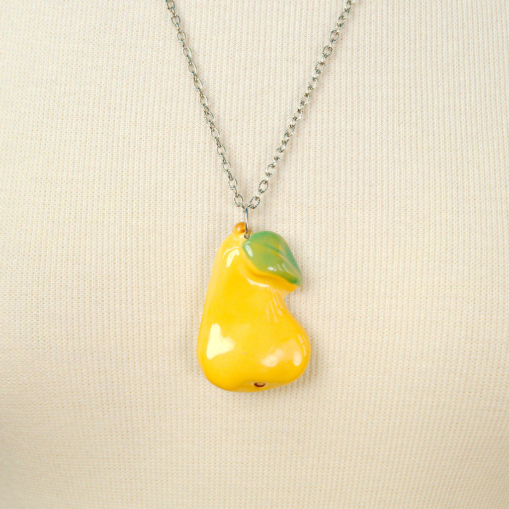 Pear Fruitopia Fruity Necklace by Hullabaloo : Cats Like Us
