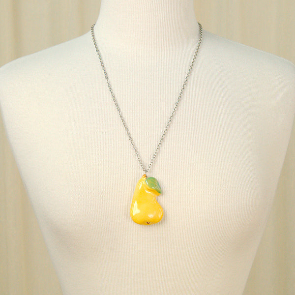Hullabaloo Pear Fruitopia Fruity Necklace for sale at Cats Like Us - 2